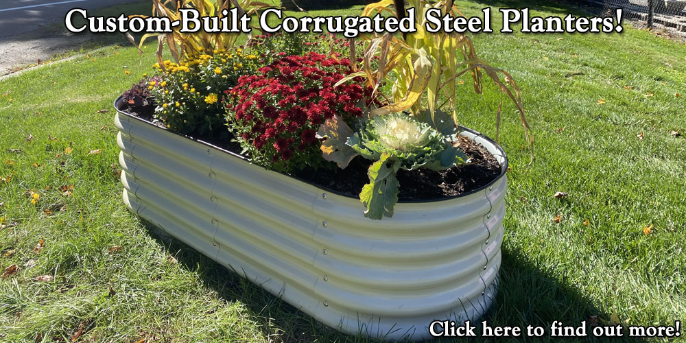 Custom-Built Corrugated Steel Planters!