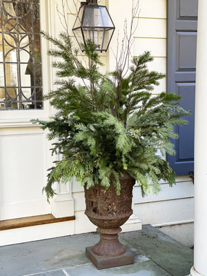 Holiday Potting Detail - Urn